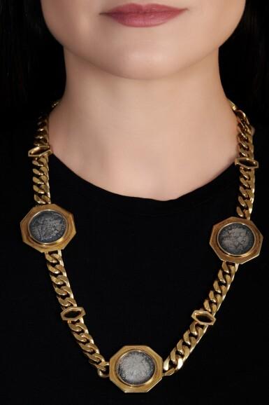 View 4. Thumbnail of Lot 696. Bulgari | Gold sautoir, 'Monete', 1970s | 寶格麗 | 黃金「Monete」長項鏈.