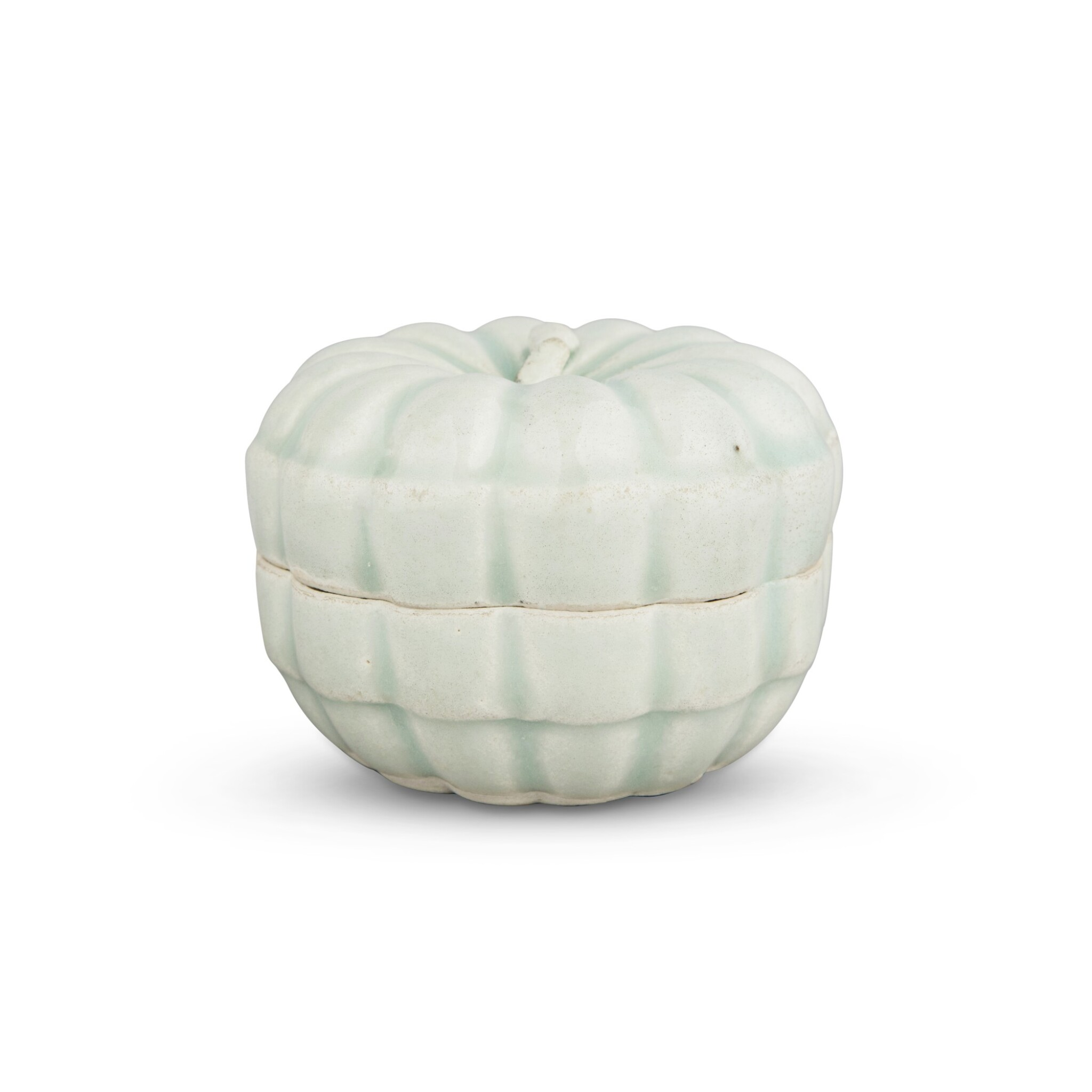 View full screen - View 1 of Lot 191. A 'Qingbai' melon-form box and cover, Southern Song dynasty | 南宋 青白釉瓜棱式蓋盒.