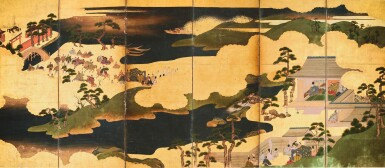 ANONYMOUS, EDO PERIOD, 17TH CENTURY | SCENES FROM THE TALES OF ISE (ISE-MONOGATARI)