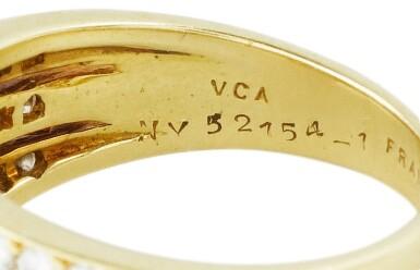 View 3. Thumbnail of Lot 80. Van Cleef & Arpels, Diamond ring [Bague diamants].