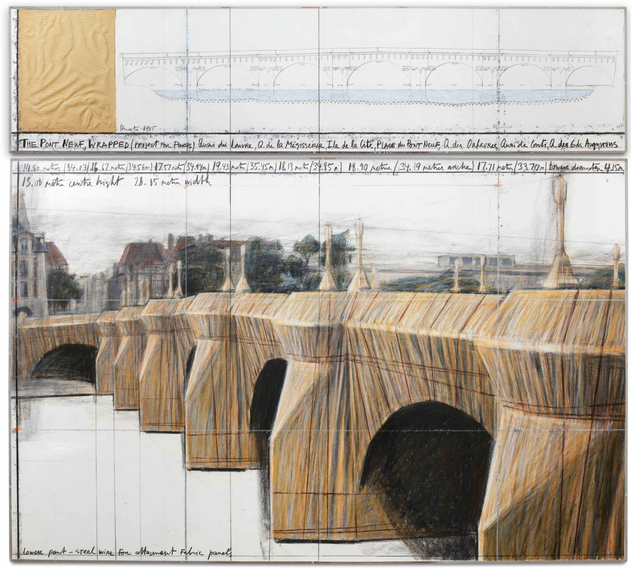 View full screen - View 1 of Lot 13. The Pont Neuf Wrapped, Project for Paris.