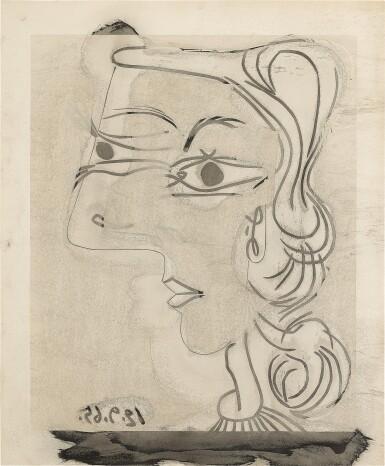 PABLO PICASSO | PORTRAIT DE FEMME DE PROFIL (BA. 1361)