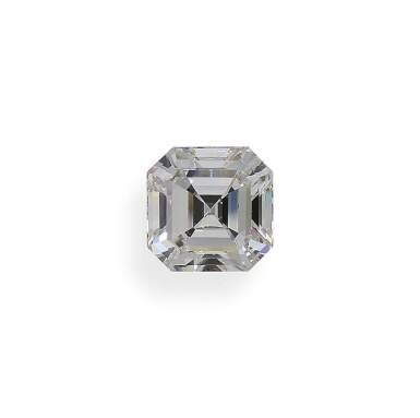 A 3.01 Carat Square Emerald-Cut Diamond, G Color, VS2 Clarity