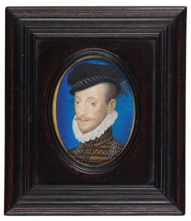 ATTRIBUTED TO JEAN DE COURT   PORTRAIT OF LÉONOR D'ORLÉANS, DUC DE LONGUEVILLE ET DE ESTOUTEVILLE (1540-1573), CIRCA 1572