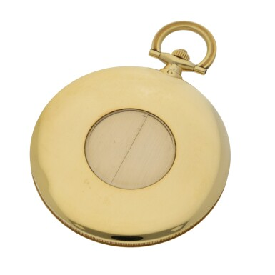 View 2. Thumbnail of Lot 43. CARTIER, PARIS | A YELLOW GOLD WATCH WITH CONCEALED GUILLOTINE DIAL CIRCA 1930.
