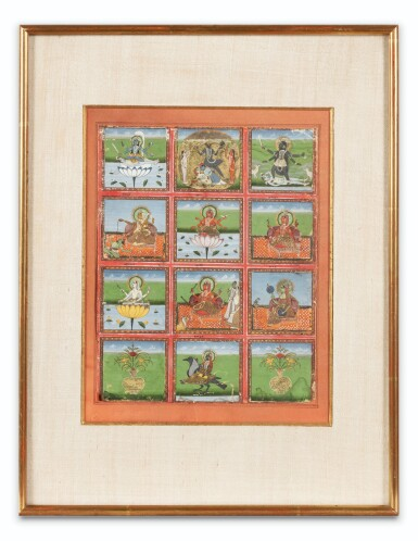 View 4. Thumbnail of Lot 35. RAJASTHAN, 19TH CENTURY | SEVEN INDIAN MINIATURES.