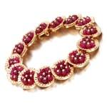 Ruby and diamond bracelet, 1977