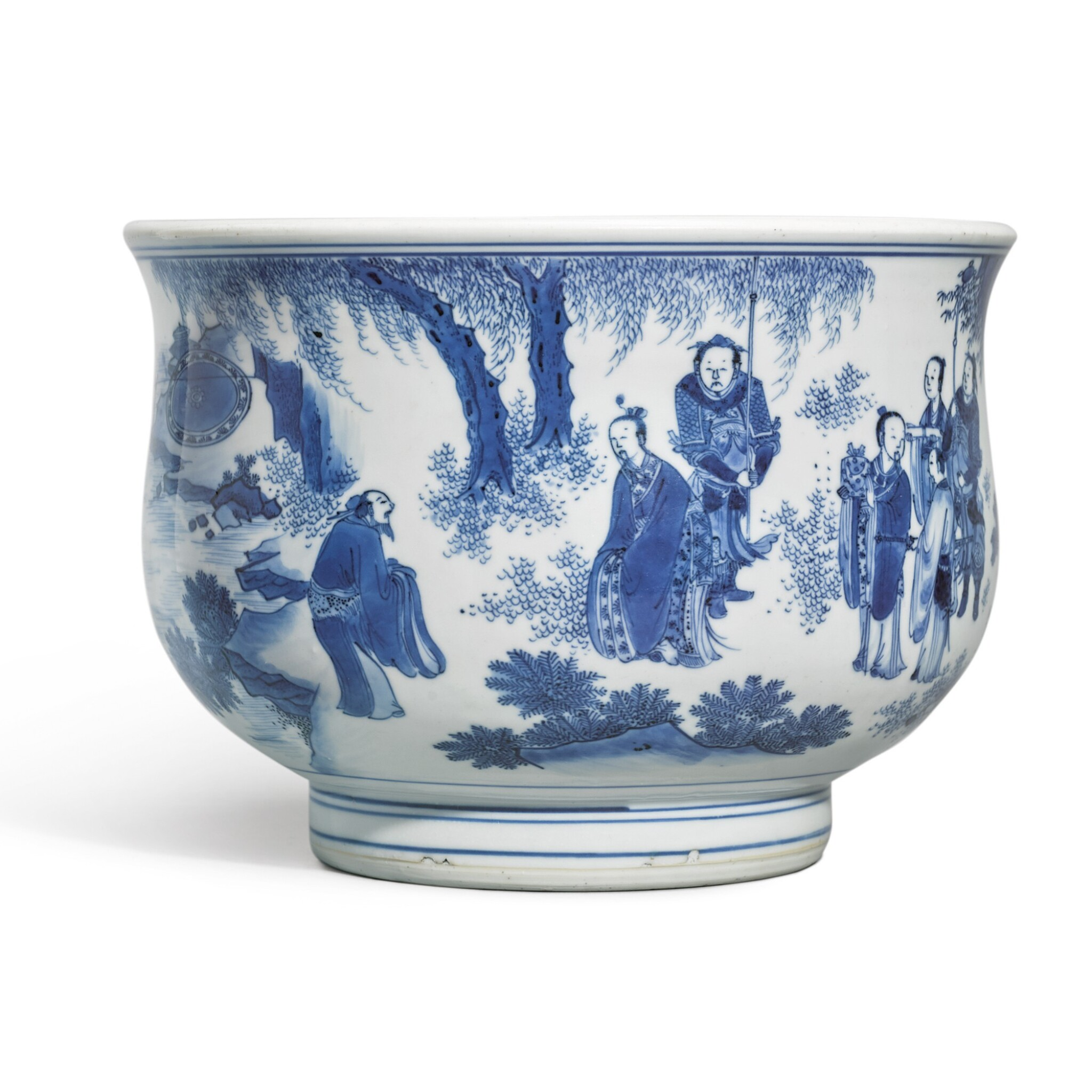 View 1 of Lot 519. A BLUE AND WHITE CENSER,  MING DYNASTY, CIRCA 1640 .