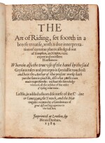 ASTLEY | The art of riding, London, 1584, later calf, drop-back box