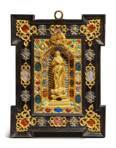 View 1. Thumbnail of Lot 796. Altarpiece with God the Father and the Virgin.