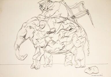 A. RAMACHANDRAN   Untitled (Elephant)