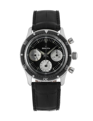 View 1. Thumbnail of Lot 82. ZENITH | STAINLESS STEEL CHRONOGRAPH WRISTWATCH CIRCA 1970.