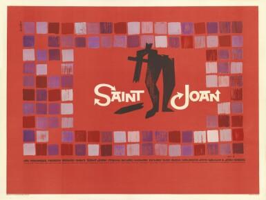 Saint Joan (1957) poster, British