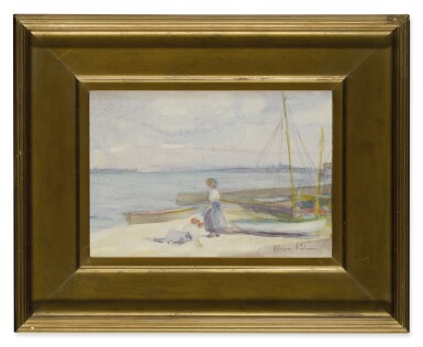 View 2. Thumbnail of Lot 487. PAULINE PALMER | ON THE BEACH (PROVINCETOWN, MASSACHUSETTS).
