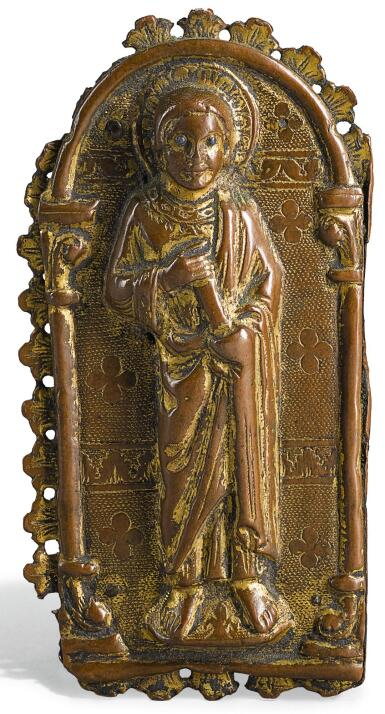 FRENCH, LIMOGES, 13TH CENTURY | APPLIQUE WITH AN APOSTLE