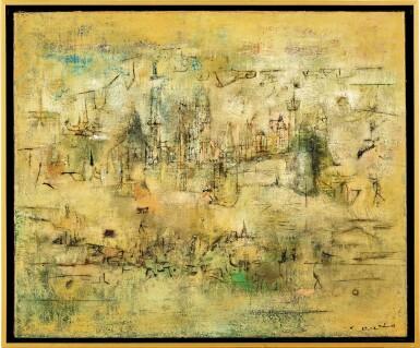 View 1. Thumbnail of Lot 1018. Zao Wou-Ki 趙無極 | Château - 07.52-05.06.55 莊園 07.52-05.06.55.