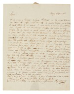 "G. Meyerbeer, Fine early autograph letter to Giovanni Ricordi about ""Romilda e Costanza"", 24 April 1818"