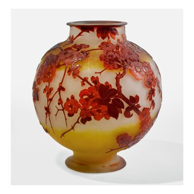 "ÉMILE GALLÉ | ""APPLE BLOSSOM"" VASE"
