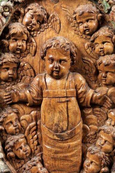 View 3. Thumbnail of Lot 107. Christ and cherubs.