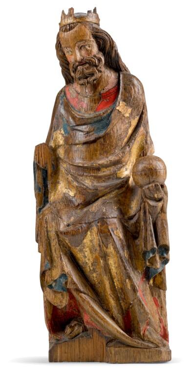 RHENISH OR MOSAN, CIRCA 1340   CHRIST ENTHRONED