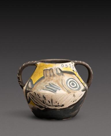 View 1. Thumbnail of Lot 14. Vase deux anses poissons (A. R. 133).