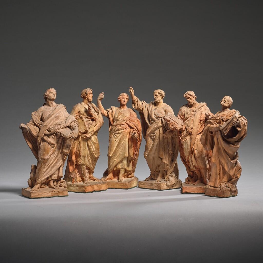 ITALIAN, 19TH CENTURY | SIX FIGURES OF APOSTLES