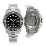 'Sea-King' GMT-Master II, Ref. 116710 Stainless Steel Dual Time Military Wristwatch With Date And Bracelet Circa 2014