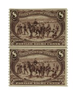 Trans-Mississippi 1898 8c Violet Brown Imperforate Horizontally (289a)