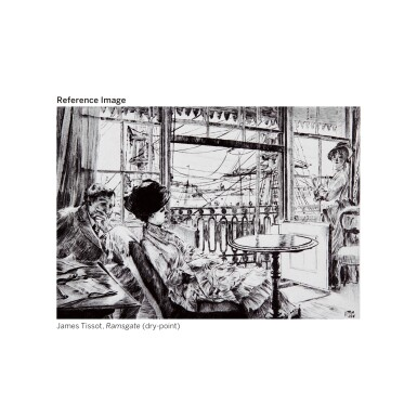 View 3. Thumbnail of Lot 36. JAMES-JACQUES-JOSEPH TISSOT | Room Overlooking the Harbour.