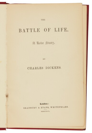 Dickens, The Battle of Life, 1846, first edition, second state