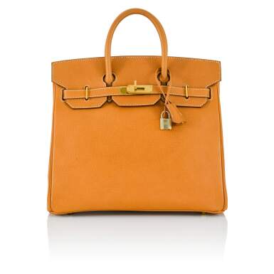 View 1. Thumbnail of Lot 59. Gold HAC Birkin 32cm in Ardennes Leather with Gold Hardware, 2004.
