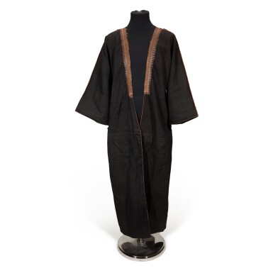 View 1. Thumbnail of Lot 93. LAWRENCE | Black wool and cotton Zebun, or outer robe, believed to have been owned by Lawrence.