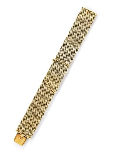 View 2. Thumbnail of Lot 68. Montre bracelet de dame or | Gold lady's bracelet watch.