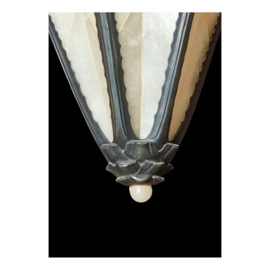 """View 3. Thumbnail of Lot 7. Pair of """"Aloe"""" Sconces."""