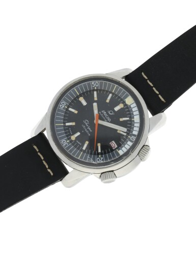 View 4. Thumbnail of Lot 73.  ENICAR | REFERENCE 144/35/03 SHERPA ULTRADIVE A STAINLESS STEEL AUTOMATIC WRISTWATCH, CIRCA 1966.