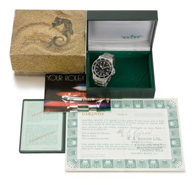ROLEX    SEA-DWELLER GREAT WHITE, REFERENCE 1665, STAINLESS STEEL WRISTWATCH WITH HELIUM ESCAPE VALVE DATE AND BRACELET, CIRCA 1978