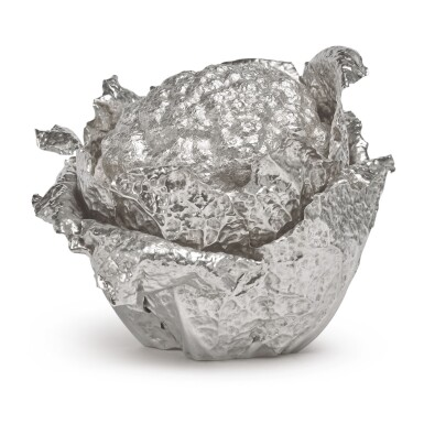 AN ITALIAN SILVER CAULIFLOWER-FORM TUREEN AND COVER, BUCCELLATI, MILAN, 20TH CENTURY