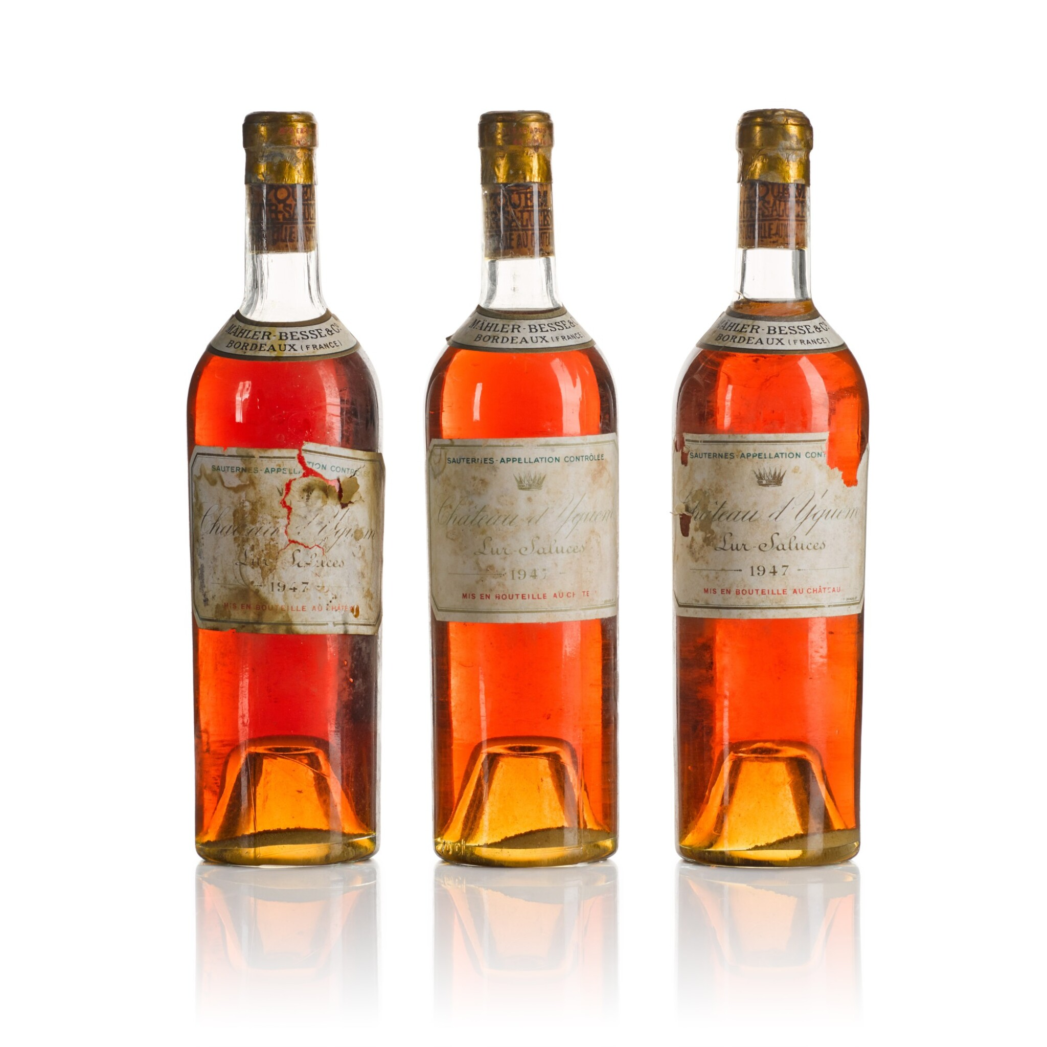 View full screen - View 1 of Lot 436. Château d'Yquem 1947  (6 BT).