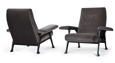 View 1. Thumbnail of Lot 179. ROBERTO MENGHI | PAIR OF HALL ARMCHAIRS FOR ARTFLEX.