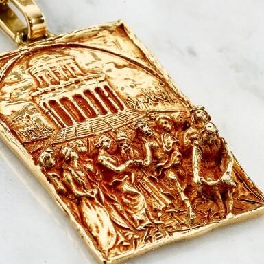 View 5. Thumbnail of Lot 9021. 'Sposalizio della Vergine' Gold Pendent Necklace | 'Sposalizio della Vergine' 黃金項鏈.