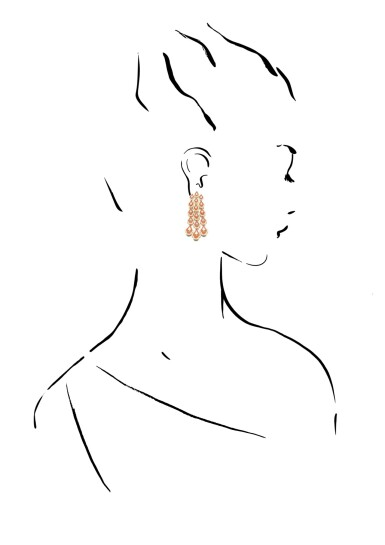 View 4. Thumbnail of Lot 1067. Pair of enamel and diamond earrings.