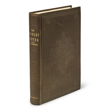 View 1. Thumbnail of Lot 55. HAWTHORNE, NATHANIEL | The Scarlet Letter, A Romance. Boston: Ticknor, Reed, and Fields, 1850.