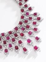 HARRY WINSTON | RUBY AND DIAMOND NECKLACE