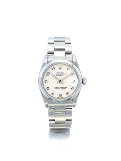 ROLEX | REF 78240 DATEJUST, A STAINLESS STEEL AUTOMATIC CENTER SECONDS WRISTWATCH WITH DATE AND BRACELET CIRCA 1998