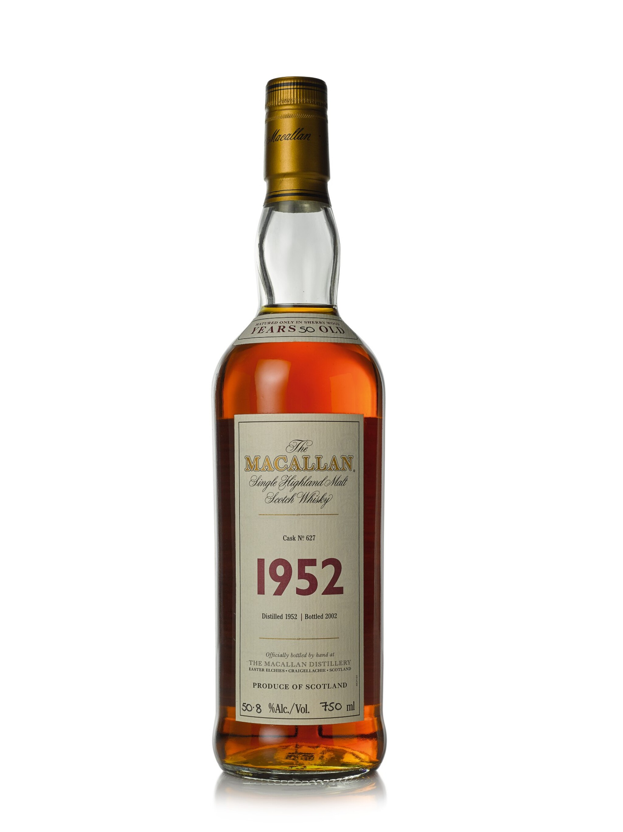View full screen - View 1 of Lot 18. The Macallan Fine & Rare 50 Year Old 50.8 abv 1952 (1 BT75cl).