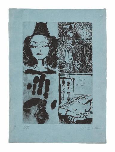View 1. Thumbnail of Lot 2. PABLO PICASSO   QUATRE SUJETS POUR LA BARRE D'APPUI (BLOCH 295A; BAER 607; SEE CRAMER BOOKS 26).