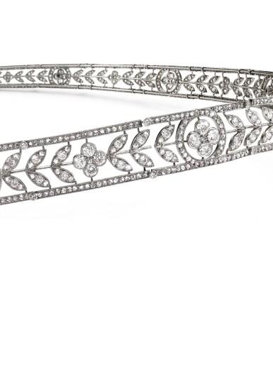 View 4. Thumbnail of Lot 179. BOUCHERON   DELICATE DIAMOND BANDEAU, CIRCA 1910 [Boucheron 鑽石束髮帶,約1910年].