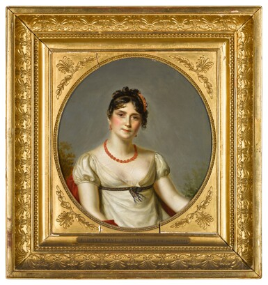 View 2. Thumbnail of Lot 65. Portrait of the Empress Josephine of France (1763-1814), bust-length, wearing a white muslin dress.