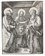 ALBRECHT DÜRER | ST. VERONICA BETWEEN ST. PETER AND ST. PAUL; AND CHRIST IN EMMAUS (B. 38, 48; M., HOLL. 147, 157)