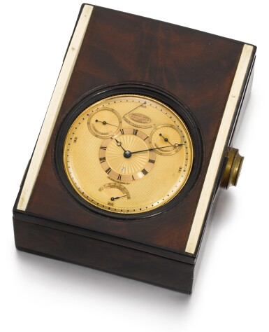 View 5. Thumbnail of Lot 28. BREGUET | RETAILED BY RECORDON, LONDON: A HIGHLY IMPORTANT GOLD FOUR MINUTE TOURBILLON WATCH OF ROYAL PROVENANCE WITH ROBIN ESCAPEMENT, THERMOMETER AND STOP SLIDE FOR TIMING THE SECONDS  1808, NO. 1297.